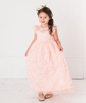 50fd307f11c7 Think Pink Bows | Blush Stella Flutter Sleeve Dress - Infant & Girls