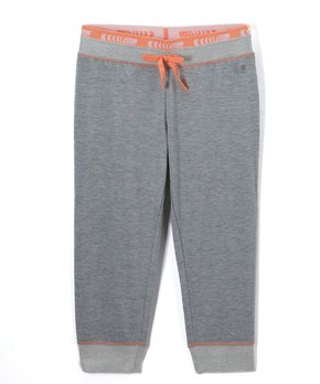 f7309fe68 Marika   Gray & Coral Knit French Terry Sweatpants - Girls