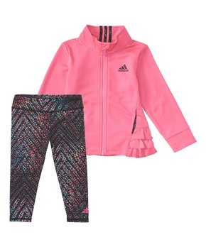 5caeedc0 all gone. adidas | Bright Pink Tricot Jacket & Zigzag Leggings - Infant