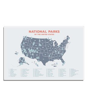Rebecca Peragine Studio | Beige National Park Map Poster