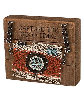 Primitives by Kathy | Camera 'Capture the Good Times' String Art Wood Wall Décor