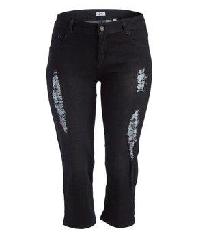 Sexsi-Pompis | Black Distressed Capri Pants - Women & Plus