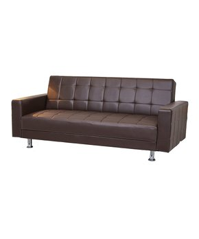 Gold Sparrow | Dark Brown Frankfort Convertible Loveseat Sofa Bed