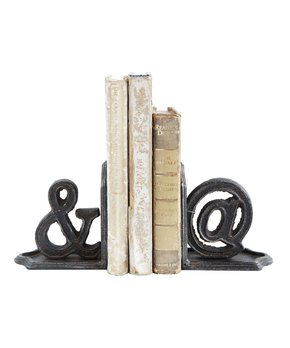'& @' Cast Iron Bookends