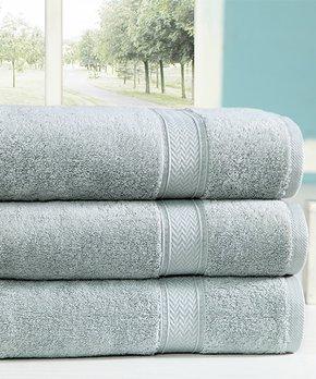Amrapur Overseas | Ivory Damask Jacquard Six-Piece Towel Set