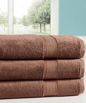 Affinity Home | Mocha Casa Platino Cotton Oversize Towel - Set of Three