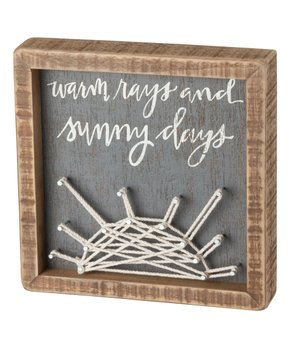 Primitives by Kathy | 'Life Is A Beautiful Ride' String Art Block Sign