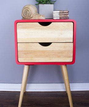 Heather Ann | Red Euro Two-Drawer End Table