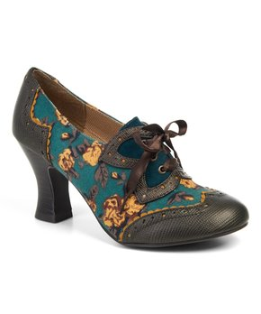 Ruby Shoo | Olive Floral Daisy Pump - Women