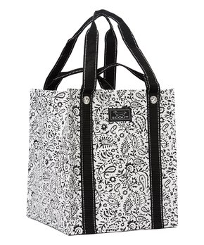 SCOUT Bags | Black Swan Paisley Bagette Tote