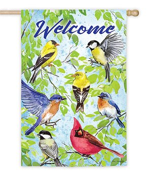 Evergreen | 'Welcome' Cardinals Outdoor Flag
