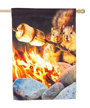 Evergreen | Campfire Couple Outdoor Flag