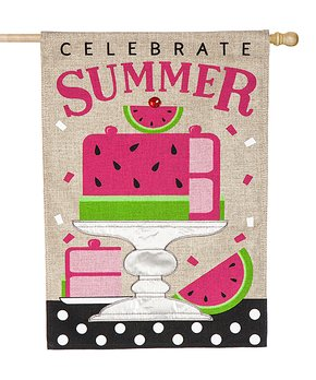 Evergreen | 'Celebrate Summer' Watermelon Outdoor Flag