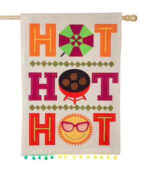 Evergreen | 'Hot Hot Hot' Outdoor Flag