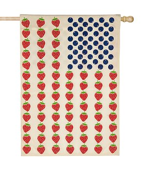 Evergreen | Patriotic Fruit Outdoor Flag