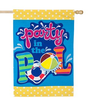 Evergreen | 'Party in the Pool' Outdoor Flag