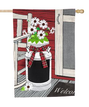 Evergreen | Porch Flower Jug Outdoor Flag