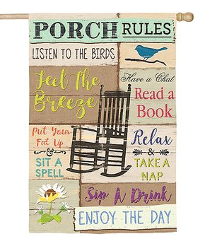 Evergreen | 'Porch Rules' Outdoor Flag