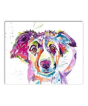 Jenn Seeley Art | Australian Shepherd Watercolor Print