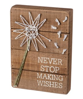 Primitives by Kathy | 'Wishes' String Art Box Sign