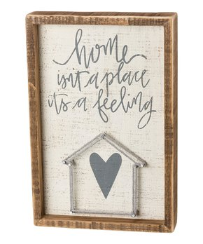 Primitives by Kathy | 'Love... and a Dog' String Art Block Sign