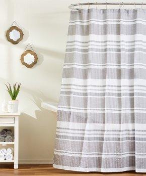 VCNY Home | Black & White Tessa Shower Curtain