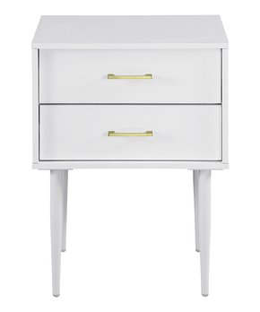 Home Meridian International | Carve-Accent Two-Drawer Nightstand