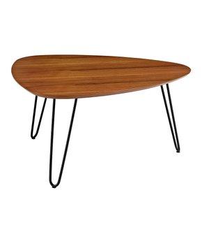 Walker Edison   Walnut Hairpin-Leg Wood Coffee Table