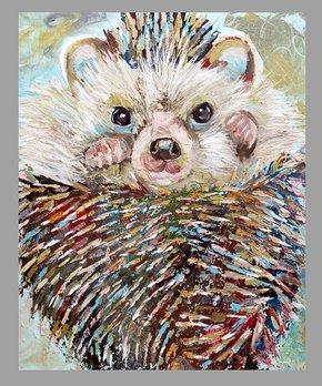 Jenn Seeley Art | Charcoal Woodland Hedgehog Art Print
