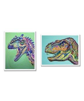 Jenn Seeley Art | Dinosaurs Two-Piece Art Print Set