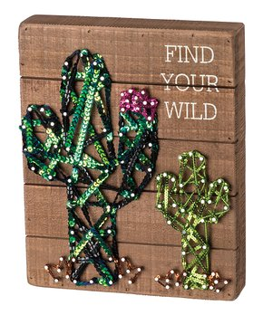 Primitives by Kathy | 'Wild & Free' Stitched Block Sign