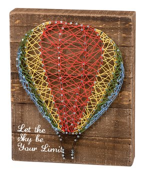 Primitives by Kathy | 'Let the Sky Be Your Limit' String Art Block Sign