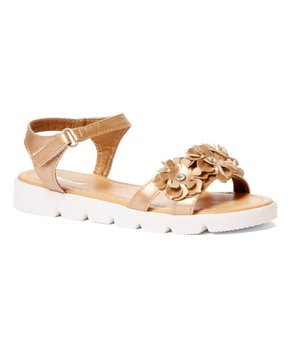 Ositos Shoes | Rose Gold Floral Sez Sandal - Girls