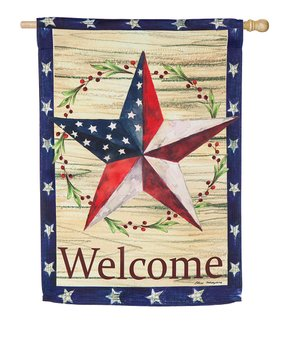 Evergreen | 'Welcome' Crab Outdoor Flag
