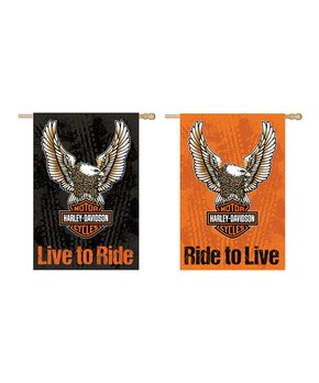 Evergreen | Eagle Harley Davidson Reversible Outdoor Flag