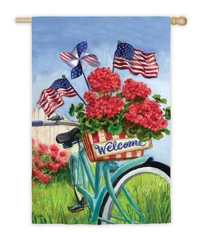 Evergreen | Ladybug 'Hello & Welcome Friends' Outdoor Flag