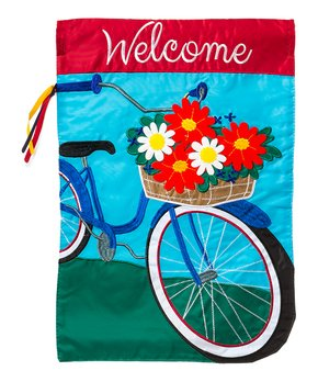 Evergreen | Summertime Bicycle 'Welcome' Outdoor Flag