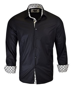 Rosso Milano | Black Accent-Cuff Button-Up – Men