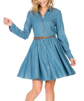 8ae44c1b5 LeShop | Blue Denim Button-Up Shift Dress - Women. all gone