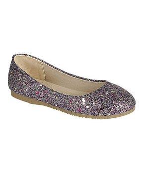 Link | Purple Norrie Glitter Ballet Flat - Girls
