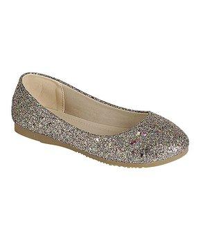 Link | Rose Gold Norrie Glitter Ballet Flat - Girls