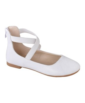 Belladia | Black Dual Ankle-Strap Brea Ballet Flat - Girls