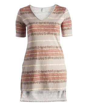 Coral Denim-Contrast Sleeveless Button-Up Top - Women & Plus