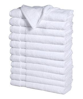 Affinity Home | White 12-Piece Combed Cotton Hand Towel Set