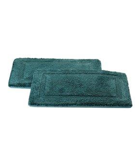 Affinity Home | Aqua Elegance Spa Memory Foam Cotton Bath Rug - Set of Two