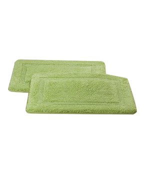 Affinity Home | Sage Elegance Spa Memory Foam Cotton Bath Rug - Set of Two