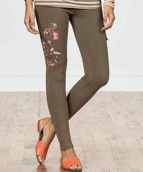 7c7df56be7714 Matilda Jane Clothing | Olive Floral Scout's Honor Embroidered Pant -…
