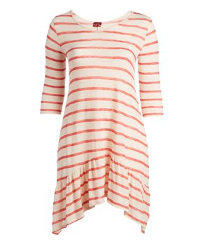 MOA Collection | Mint Ruffle-Sleeve Babydoll Tunic - Plus