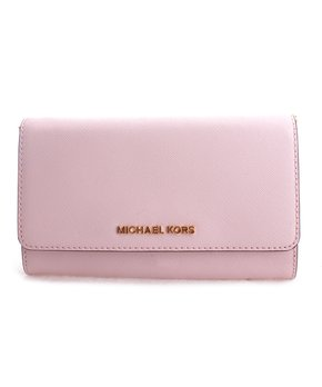 5d168fa3d4b6 Michael Kors | Luggage Brown Karla Large Leather Slim Wallet. shop now.  only 5 left