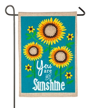 Evergreen | Teal & Yellow Sunflower 'You Are My Sunshine' Outdoor Flag